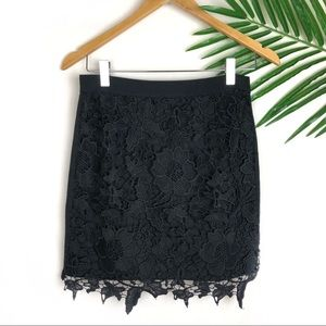 American Eagle Outfitters Black Lace Skirt Size 4